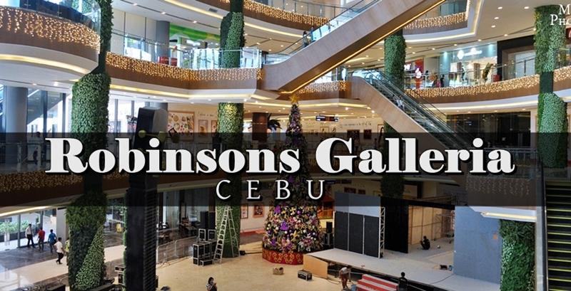 Touring Robinsons Galleria Cebu
