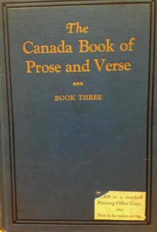 The Canada Book of Prose and Verse 3