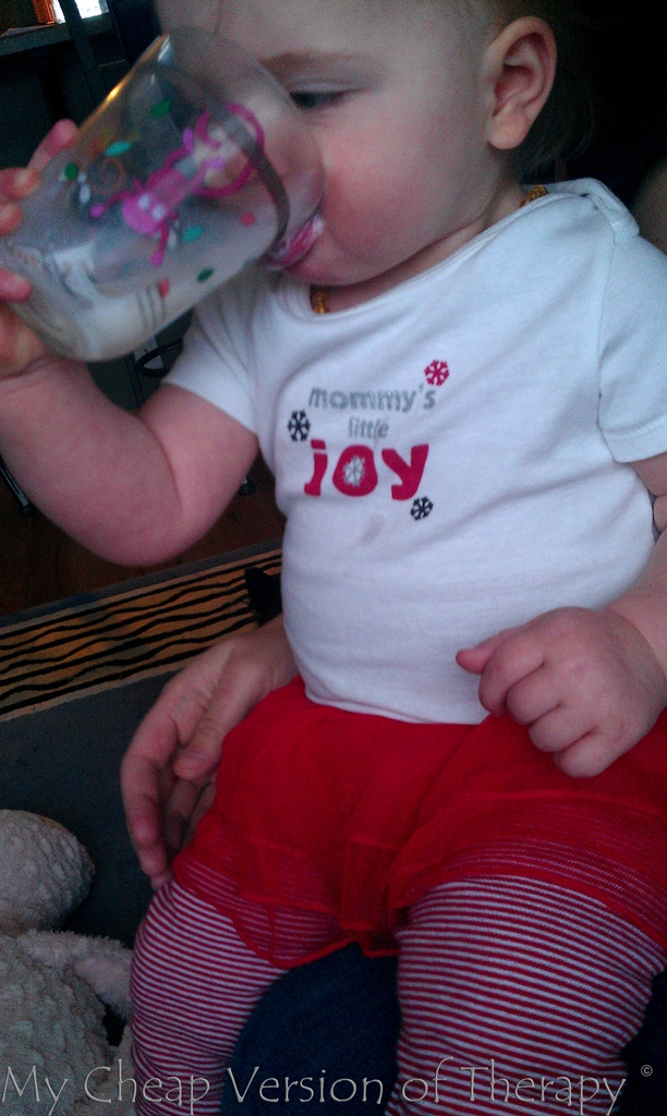Tossing it back like her parents!