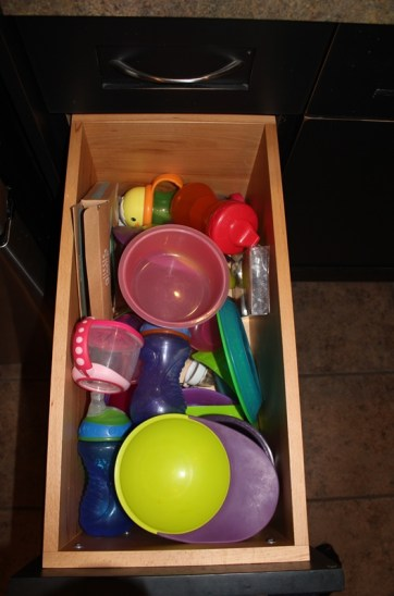 Stella's drawer - now I need to figure out what to do with all of the new baby's bottle/pumping stuff.