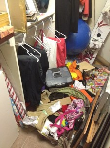 Pre-cleaning of guest room closet