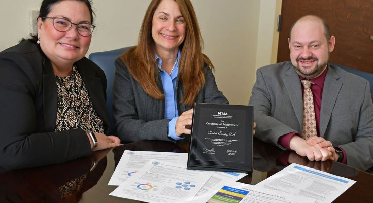 Chester County Receives National Honor for Performance Management Leadership