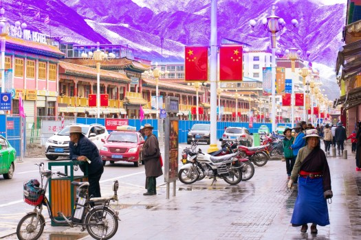 The streets of Xiahe