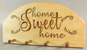 Key Holder, Home Sweet Home pattern (Adobe pdf)