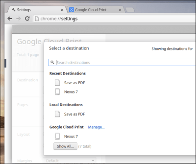 IMPRIMER VIA GOOGLE CLOUD PRINT SUR CHROMEBOOK