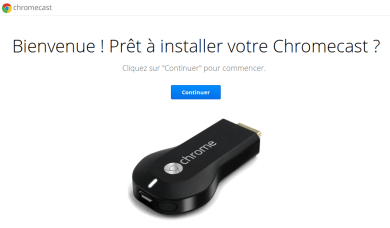 installation du chromecast