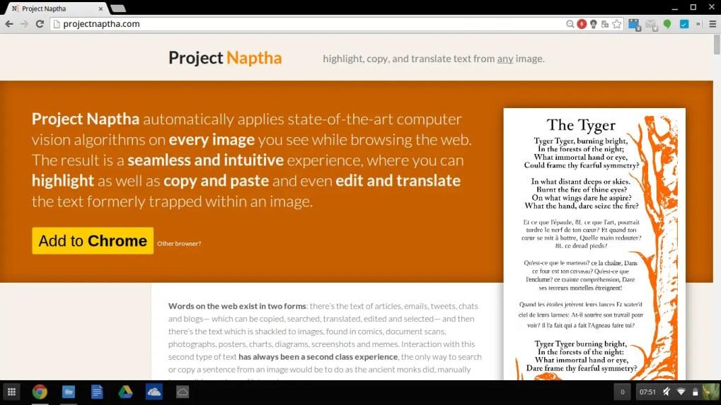Projet Naphta