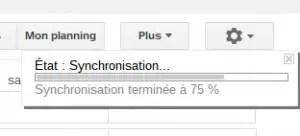 Synchronisation google agenda
