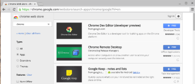 INSTALLER UNE APPLICATION CHROME SANS COMPTE GMAIL.