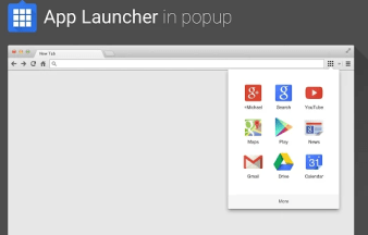 App launcher in popup