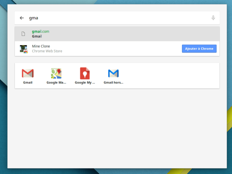 Lanceur Chrome OS
