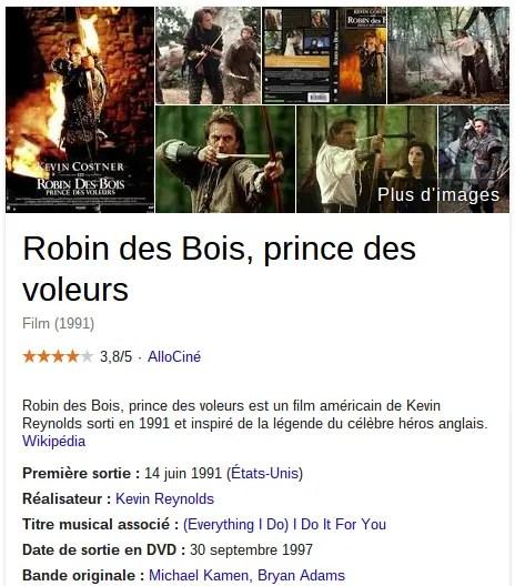 fiche google robin des bois