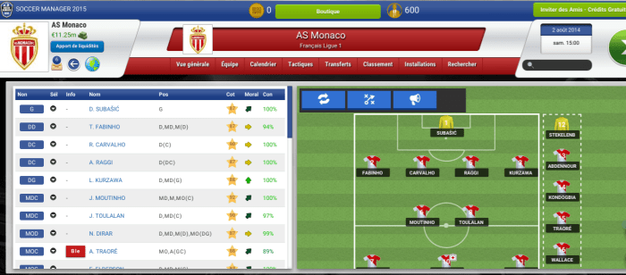 Soccer manager 2015 match