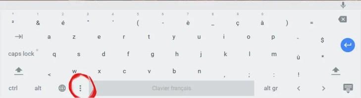Choix Clavier