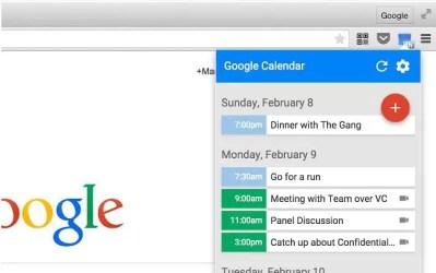 Google agenda, partout, tout le temps sur votre navigateur Chrome