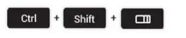 Raccourcis clavier capture d'écran partielle chrome OS