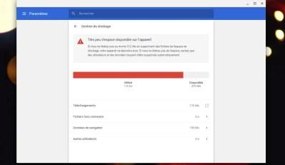 Gérer la mémoire de stockage sur Chrome OS et Chromebook
