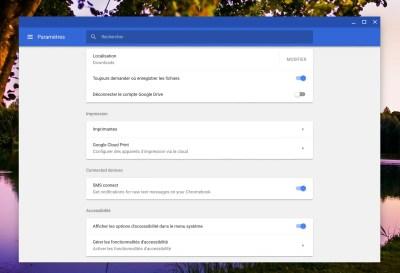 Chrome OS envisage la réception de SMS sur Chromebook