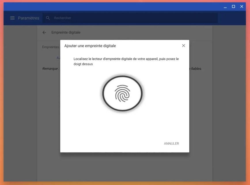 Activer et utiliser le déverrouillage par empreintes digitales sur Chromebook