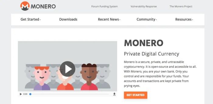 Monero est une des premières cryptomonnaies à être totalement privée.
