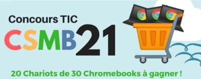 Concours TIC : 20 chariots de 30 Chromebooks à gagner