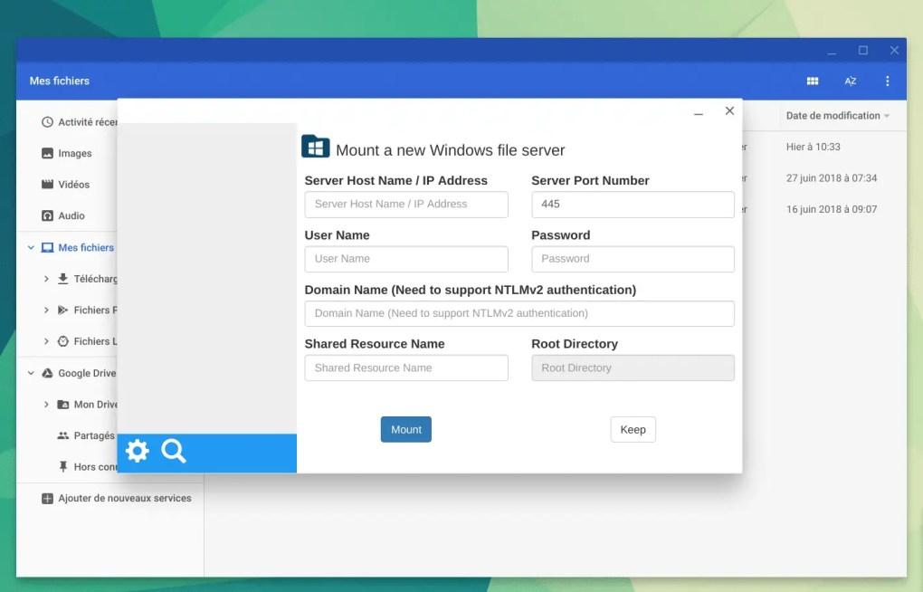 Système fichiers Windows sur ChromeOS