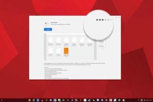 La Note d'un Logiciel Linux sur ChromeOS avec Gnome Logiciel