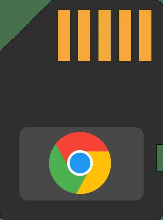 Dessin carte Sd avec logo Chrome