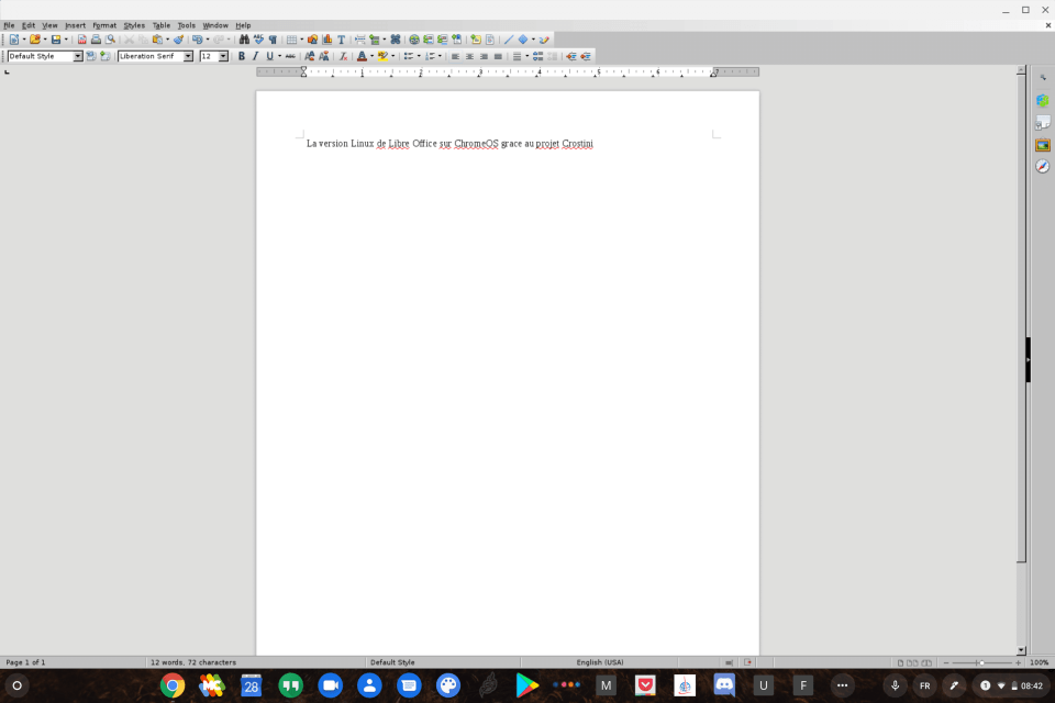 Installer LibreOffice sur Chromebook