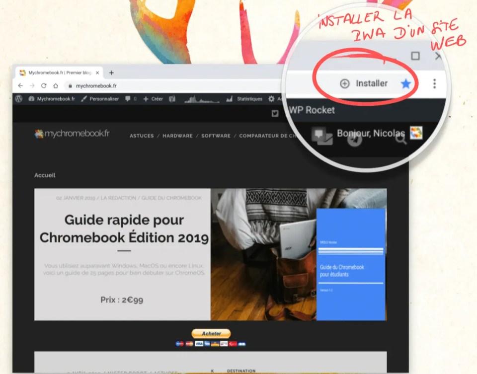PWA : Installer des progressives web applications sur Chromebook en un clic.