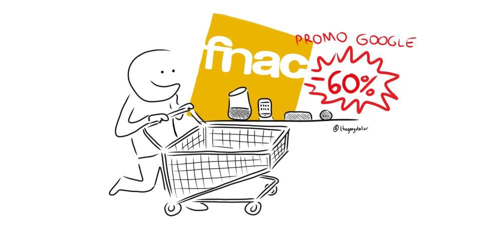 Promotions : les jours Google chez FNAC avec des offres jusqu'à -60%