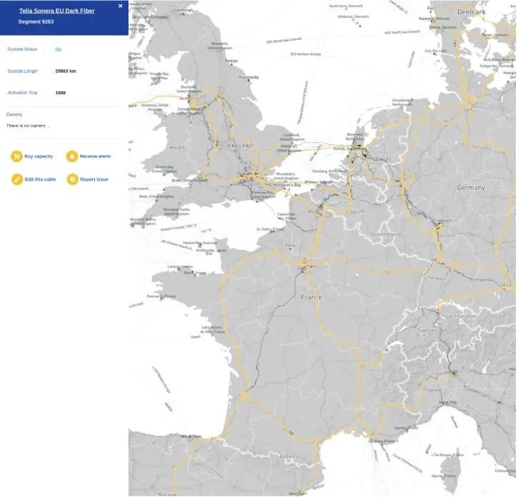 Extrait carte du  site live.infgrapedia.com