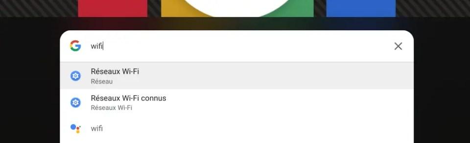 Rechercher des paramètres depuis le lanceur d'applications de Chrome OS