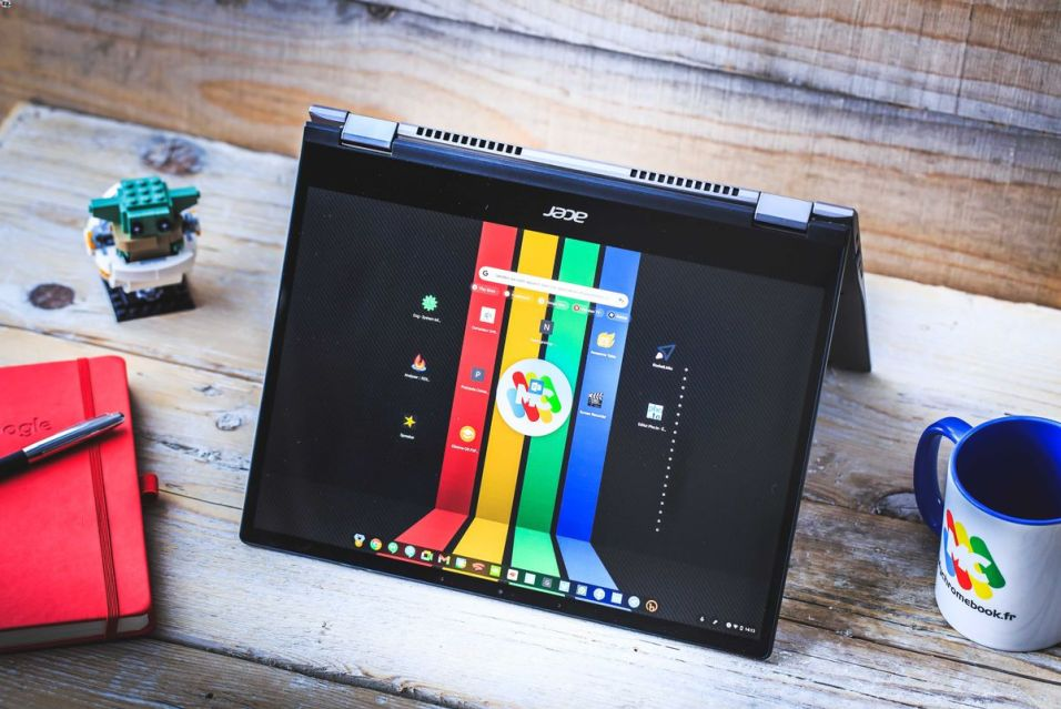 Le Chromebook Spin 713 en mode tente
