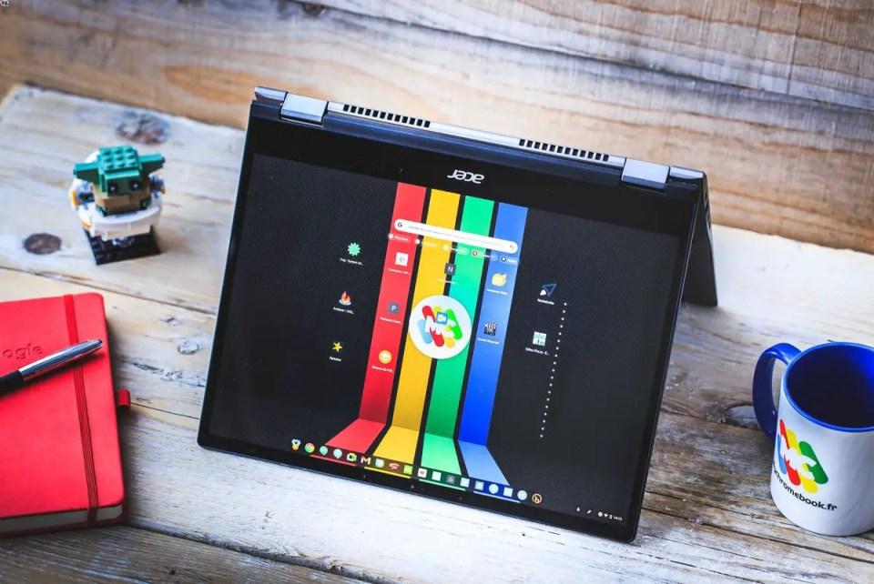 Le Chromebook Spin 713 en mode tente