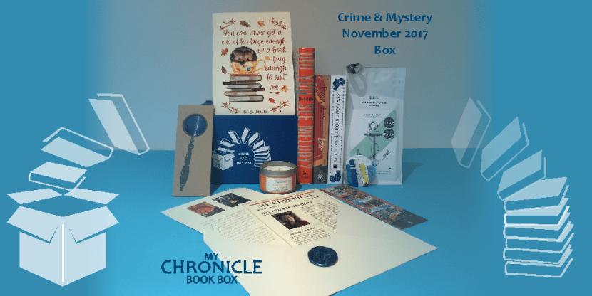 My Chronicle Book Box Crime and Mystery November 2017 Box Web Banner