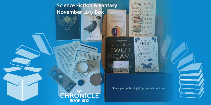 My Chronicle Book Box Science Fiction and Fantasy November 2017 Box Banner