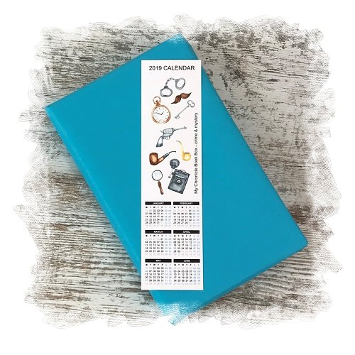 Book Subscription Box - Crime Mystery - November 2018 - Calendar Bookmark
