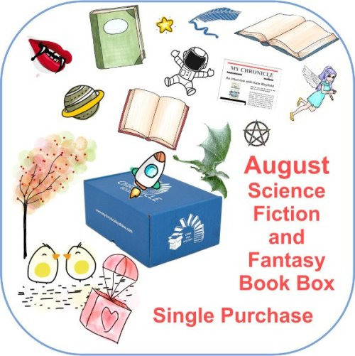 August Single purchase Book Box Science Fiction and Fantasy button