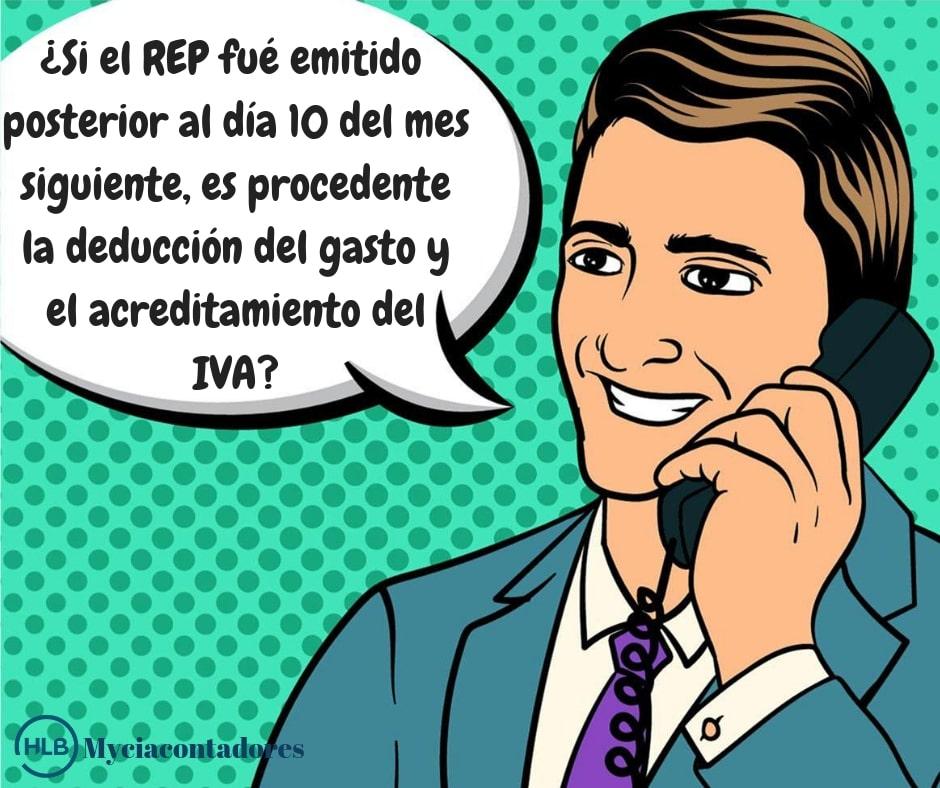 Emisión del REP fuera de plazo y sus implicaciones fiscales