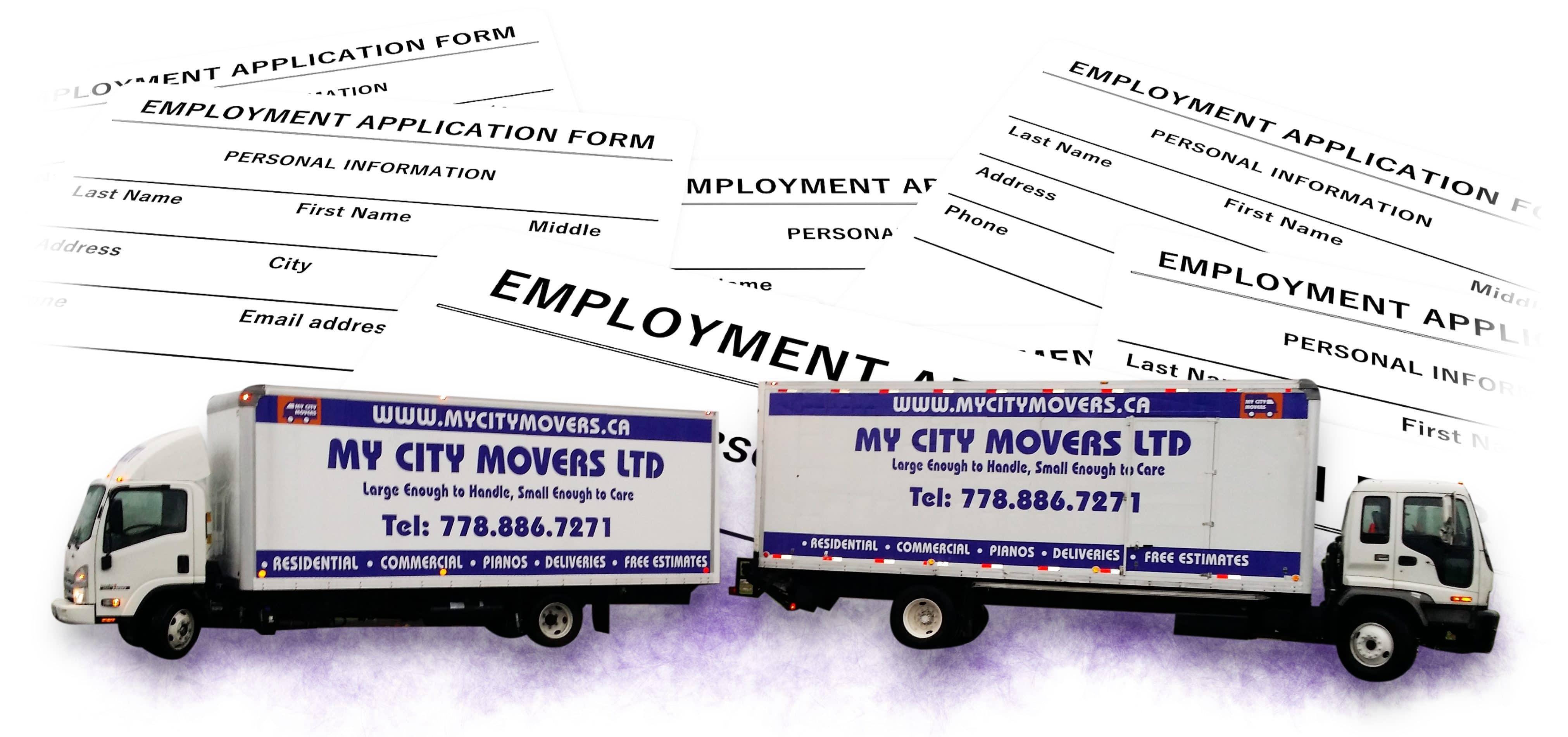 My City Movers trucks