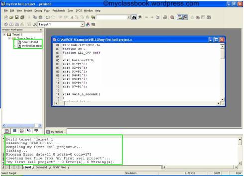 Keil tutorial for programming a microcontroller 9