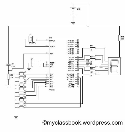 user input based seven segment display circuit diagram