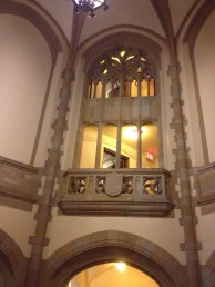 4 - What I see when I walk into Bingham Hall.