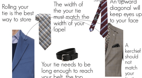 The rules for wearing ties for men