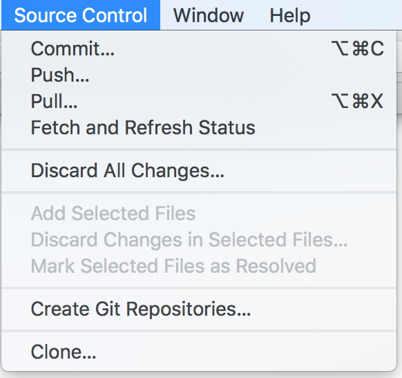 Switching Branch in Xcode-9 - MyCodeTips