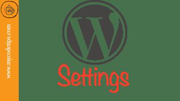 WordPress Settings Panel
