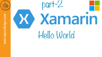 Hello World with Xamarin and Windows or MAC with C#