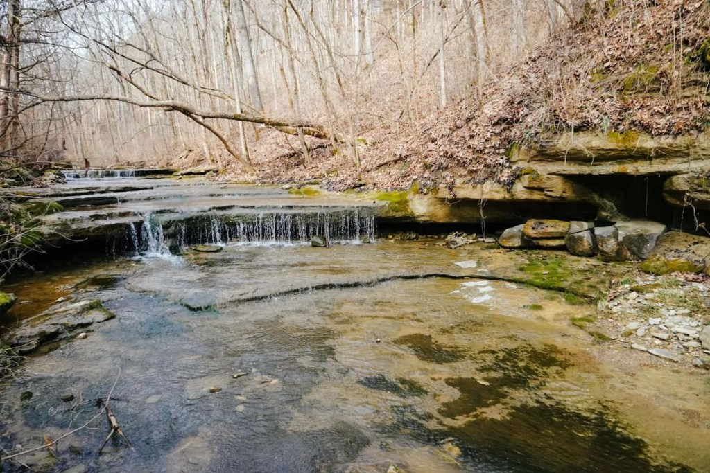 The Bottom of the Creek Near the Road at Fairmount Falls