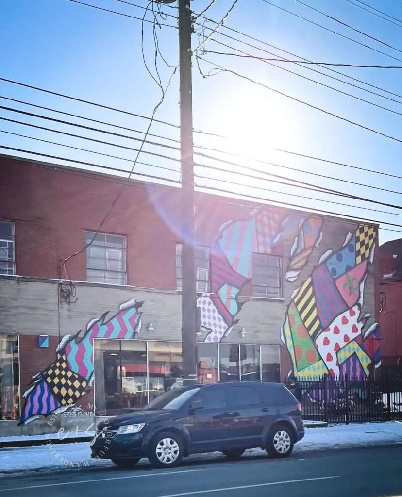 Colorful Ties Louisville Mural